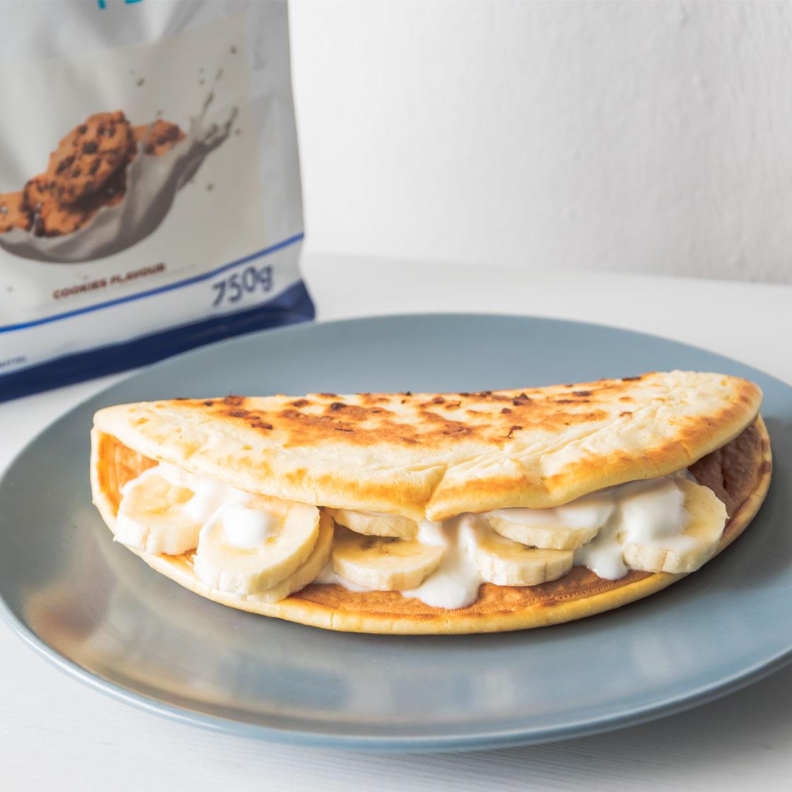 Omlet bananowy fit – aż 55 gram białka!